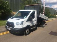 2014 Ford TRANSIT 350 NEW SHAPE TIPPER ONE STOP BODY Manual Chassis Cab