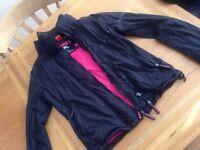 Black and pink super dry jacket