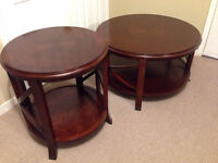 Bombay company coffee table and side table