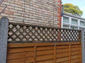 6ft x 1ft diamond trellis fence panel