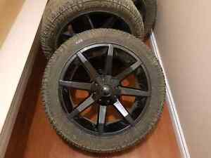22 inch KMC  wheels with Dune Grappler tires