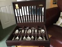 44piece David Price Canteen of silver plated cutlery