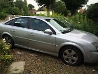 2004 silver Vauxhall Vectra sale for parts
