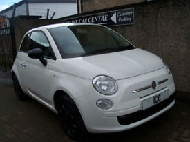 09 59 FIAT 500 1.2 POP 3DR WHITE ONLY £30 ROADTAX LOW INSURANCE 1 YEARS MOT