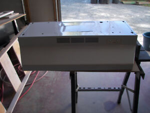 Counter top stove and exhaust fan