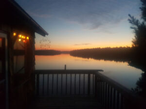 Boat access cottage with own private beach and amazing sunsets