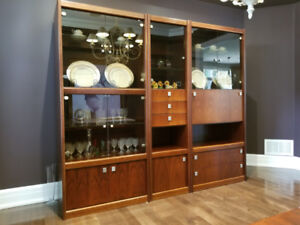 3 piece rosewood wall unit.