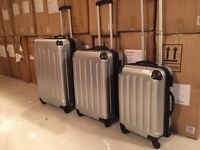 3 piece Luggage set.Hard cover Suitcase ABS and PC 360 spinner