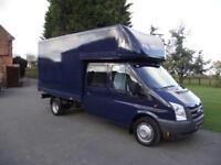 2008 58 FORD TRANSIT 140PS XLWB T350 CREW-CAB DOUBLE-CAB BOX LUTON VAN # NO VAT