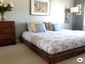NEW RUSTIC SOLID WOOD BED FRAME + HEADBOARD BY ORDER Cornwall Ontario image 4
