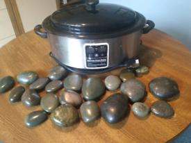 Digital hot stone warmer / heater & stones.