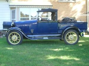 original 1928 ford  model A roaster pick up ,built in fall 1927