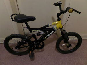 """FULL SUSPENSION Boy's Bike 16"""" wheels with brakes and bell"""