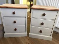 Up Cycled Pine Two Bedside Tables /Can Drop off