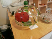 Handpainted Glass Domed Cake Stand at KeepSakes