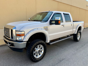 2010 FORD F-250 LARIAT CREW CAB SHORT BOX DIESEL LIFTED DEAL !!