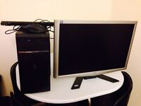 AMD A6-6400k 3.9ghz 8GB DDR3 Gaming Rig with 24inch monitor Mouse Keyboard PC