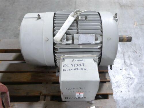 Rebuilt 40 HP Siemens Electric Motor 460V 885 RPM 365T Frame RGZEESDX