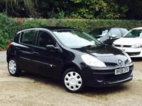 2008 Renault Clio 1.2 16V 75 Extreme 5 Door Black only 45,363 Miles SUPERB!!!!!