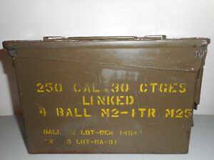 250 30 CAL Heavy duty military boxes
