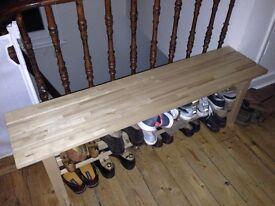 Wooden bench (IKEA)