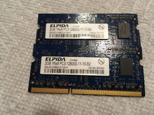 Apple Original 4GB (2x2GB) DDR3 PC3-12800 Memory/RAM
