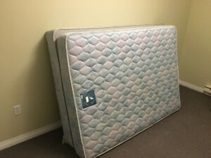 Full/Double Mattress, Boxspring, Adjustable Frame and Headboard