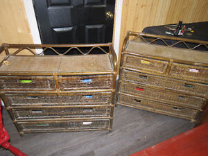 5 Drawer Wicker Storage Units 40 each or 2 for 70