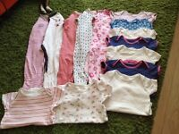 Baby girl bundle of vests and sleep suits age 18-24 months