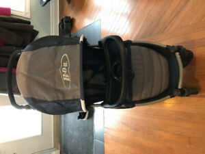 B.O.B. Motion Stroller (includes tray, rain and sun covers)