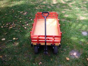 Red wood children's wagon with rails Kitchener / Waterloo Kitchener Area image 2