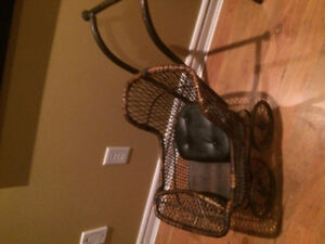 vintage wicker baby carriage
