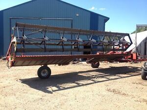 Case IH 8220 25' pull type swather with Roto Shear Strathcona County Edmonton Area image 2