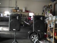 PA Speakers & Stands suitable for DJ etc