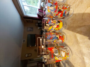 4 Disney 1995 Collector Glasses