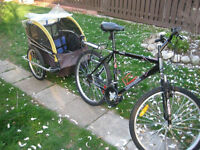 Raleigh, Men's, 21 Speed, With Burley Trailer