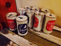 Vintage Flat Top First Year All Aluminum Beer Cans. 1962 - 64