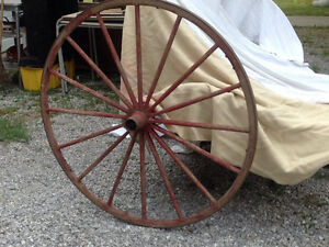 Wooden wagon / buggy wheels for sale (two available)