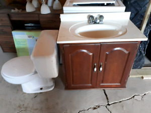 Toilet and vanity for sale!