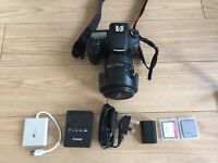 Canon EOS 7D DSLR 18mp with lenses and accessories.
