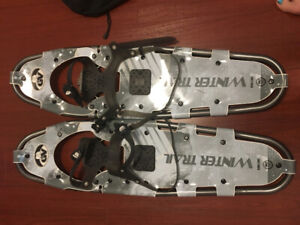 GV snowshoes with MEC bag
