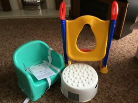 Step up and dining booster seat. (Toilet aid sold)