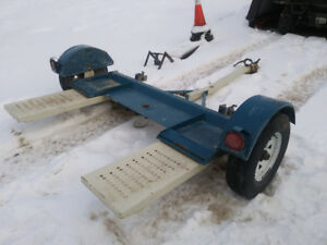"2012 stehl 80"" tow dolly, tilts, mint shape"