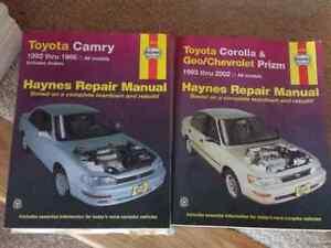 Haynes Manuals - Toyota Camry 1992 to 1996 and Corolla 93 to 02 Kawartha Lakes Peterborough Area image 1