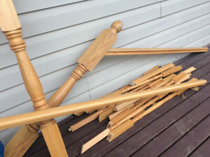 Oak Spindles and Railings
