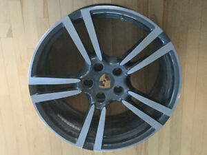 "Porsche 21"" OEM wheels for sale, used."
