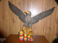 5 Russian Nesting Dolls,  Russian wooden Eagle 600$ off