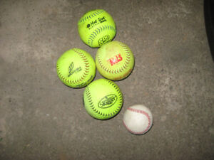 SOFT BALLS BRAND NAMES GOOD CONDITION $1.00 EACH