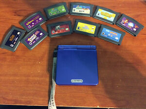 Game boy advance sp bleu et 10 jeux