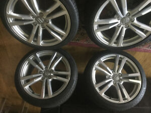 Audi Original Tires and Rims - Almost New